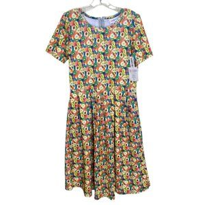 3/$25 LuLaRoe Fruit Amelia Dress Apple Fit & Flare